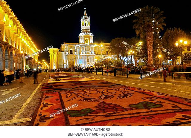 Peru, Arequipa, Corpus Christi on Plaza de Armas