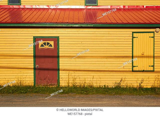 Colourful traditional timber building, Canada