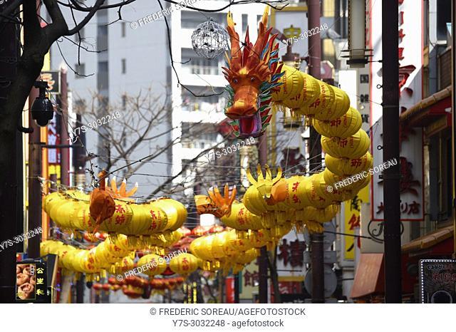 Chinese New Year , Yokohama Chinatown district, Kanagawa Prefecture, Honshu island, Japan, Asia