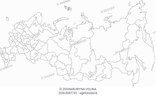 Outline Russia map