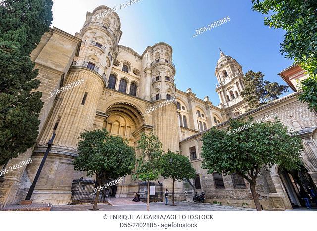Cathedral, Malaga, Andalucia, Spain
