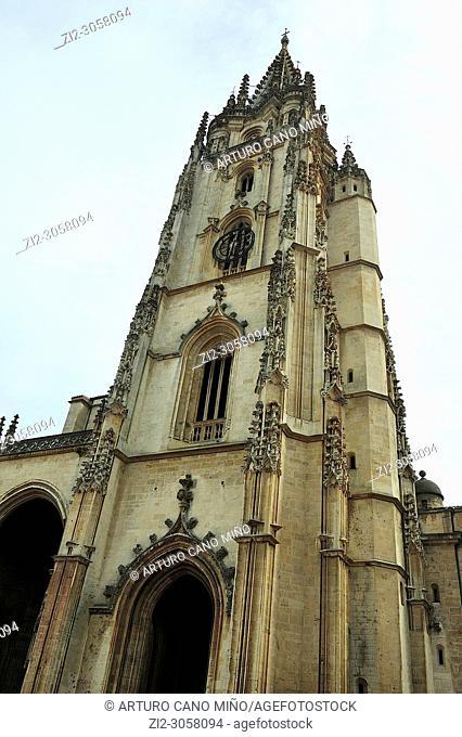 The Gothic Cathedral of the Holy Saviour (XIV-XVIth centuries). Oviedo city, Asturias, Spain