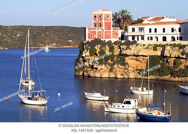 Cales Figuera ES CASTELL MENORCA Pleasure boats and yachts anchored in bay