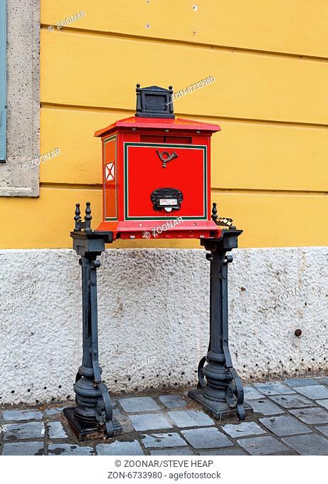 Posta mailbox in Castle Hill Budapest