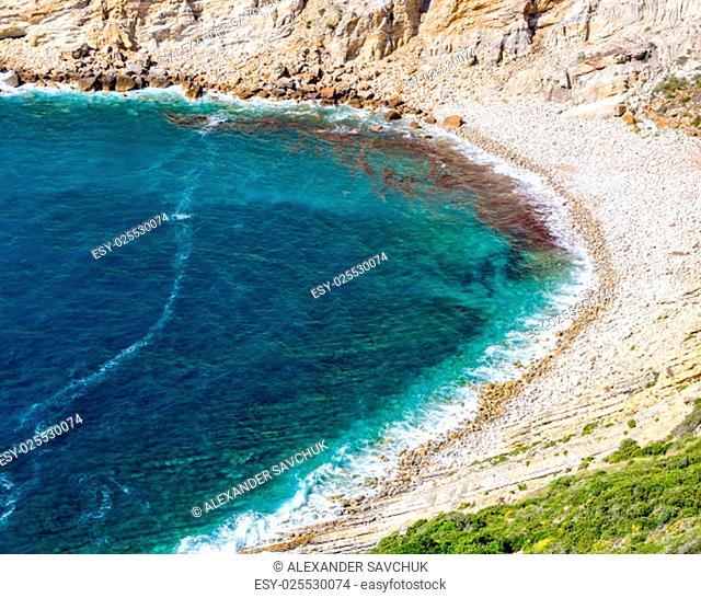 Rocky Beach in Bay, Sesimbra, Portugal