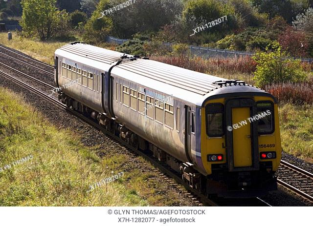 Northern Rail train at Workington, Cumbria, England