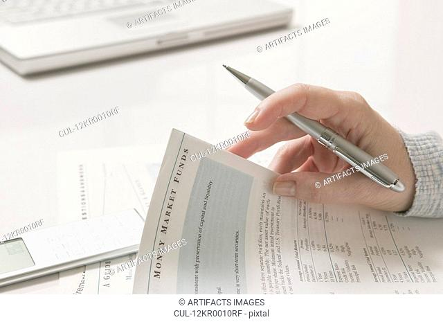 Woman doing financial tax planning