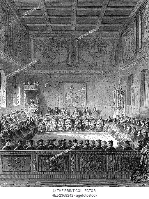 Parliament of Brittany, 1613 (1882-1884). Under the French Ancien Regime, the Parliament of Brittany was a sovereign court of justice