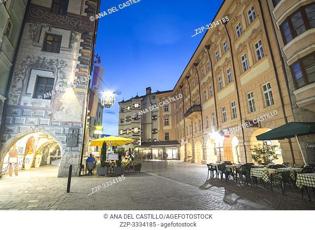 Innsbruck city center Austria on April 16, 2019