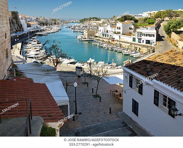 Puerto de Ciutadella. Menorca. Islas Baleares. Spain. Europe