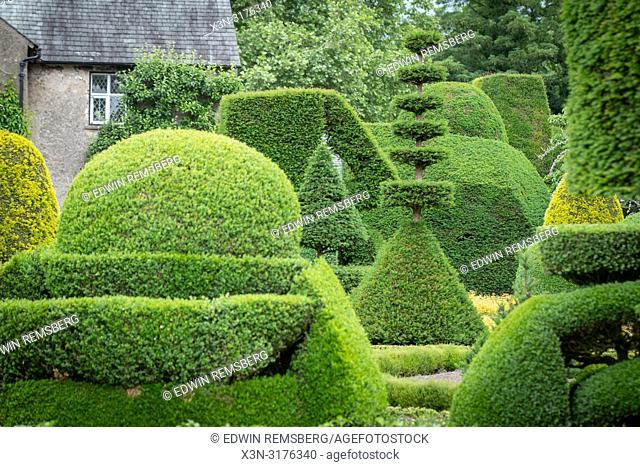 Beautiful geometric Hedgebery of Levens Hall , Kendal, Cumbria , UK