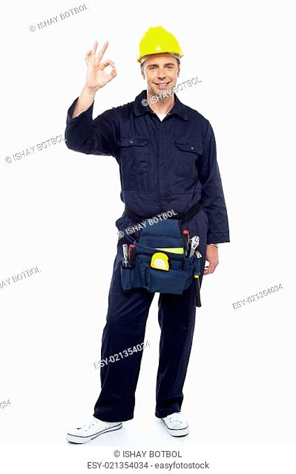 Great work my team. Senior contractor posing