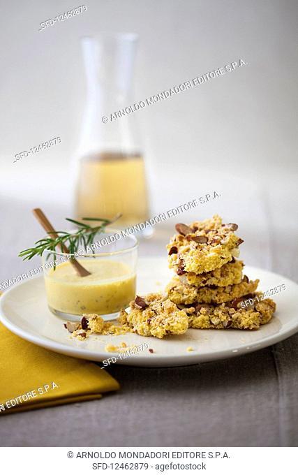Grana Padano Cheese Sbrisolona with Balsamic Zabaglione