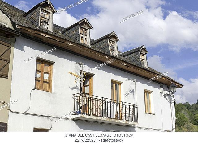 Mountain village of Vilamos Aran valley Lleida Catalonia Spain