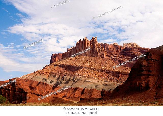 View of rock formations in Capitol Reef National Park, Torrey, Utah, USA