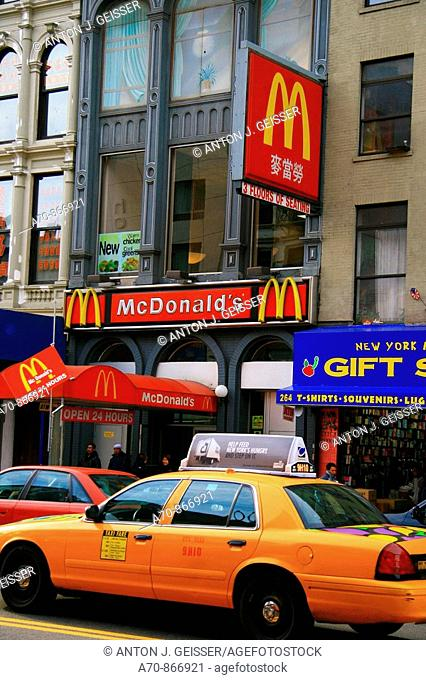 USA, New York City, Fast Food, McDonalds, Chinatown