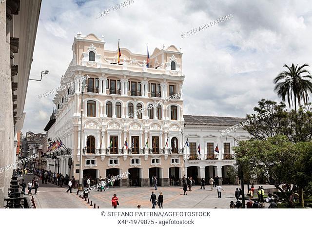 Hotel Grand Plaza, Plaza de la Independencia, Quito, Old City, Ecuador
