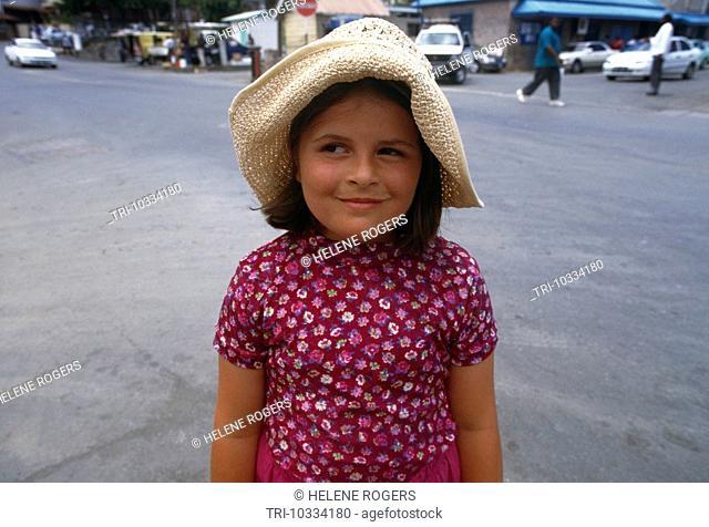 Girl On Holiday Tobago doubtful Expression