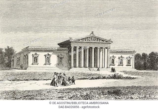 The Glyptotek, Munich, Germany, from Causeries de voyage: de Paris a Vienne (1860) by Victor Duruy (1811-1894), from Il Giro del mondo (World Tour)