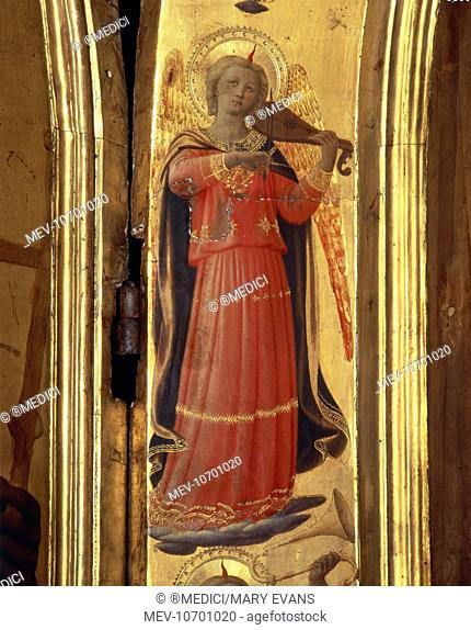 Angel playing the viola by Fra Angelico