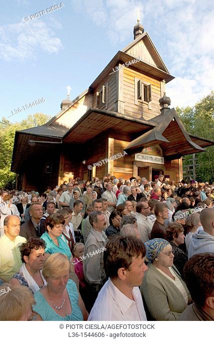 Grabarka. The holy hill of the polish orthodox church. The celebration of the Spas on 18 of august. Poland. Podlasie region. Eastern Poland