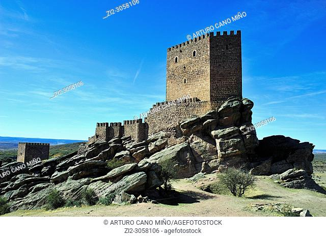 The Castle of Zafra (XIIth century).It appears in the TV serie 'Game of Thrones'. Campillo de Dueñas town, Guadalajara province, Spain