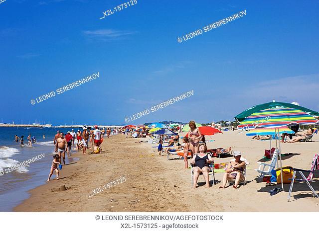 Sant Salvador beach  El Vendrell, Catalonia, Spain