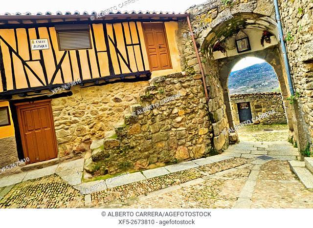 Nuestra Señora de la Cuesta Door, Village Door, City Wall, Medieval Town, Miranda del Castañar, Salamanca, Castilla y León, Spain, Europe
