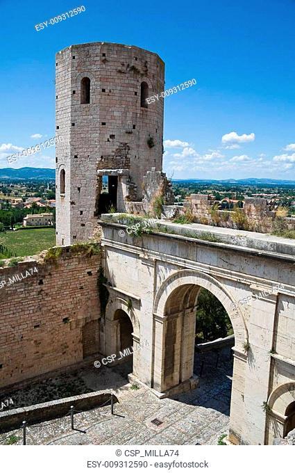 Towers of Properzio. Spello. Umbria