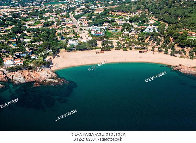 Sa Conca beach in S'Agaro. Costa Brava