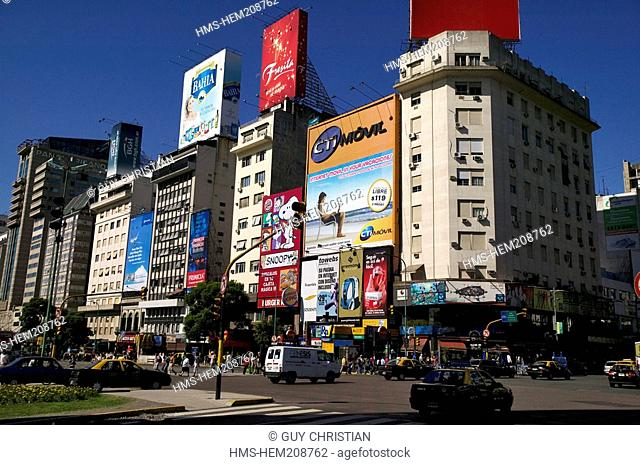 Argentina, Buenos Aires, Avenida 9 de Julio 9 July Avenue