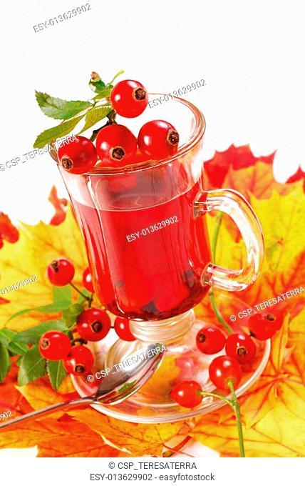 glass of rose hip tea