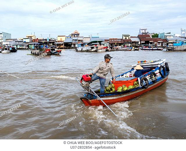 Can Tho province, Mekong Delta, Can Tho Floating Market