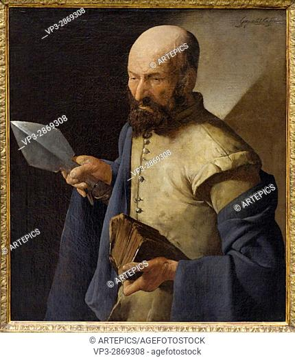 Georges de la Tour. Saint Thomas à a pique. French school. Louvre Museum - Paris