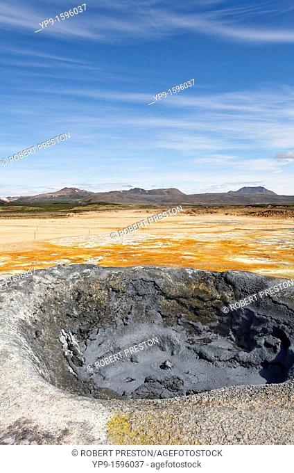 Mud pool at Hverir, Iceland
