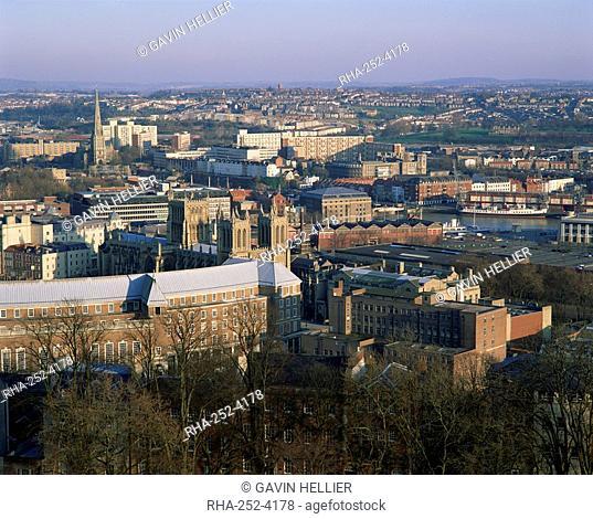 Council buildings and city centre, Bristol, Avon, England, United Kingdom, Europe