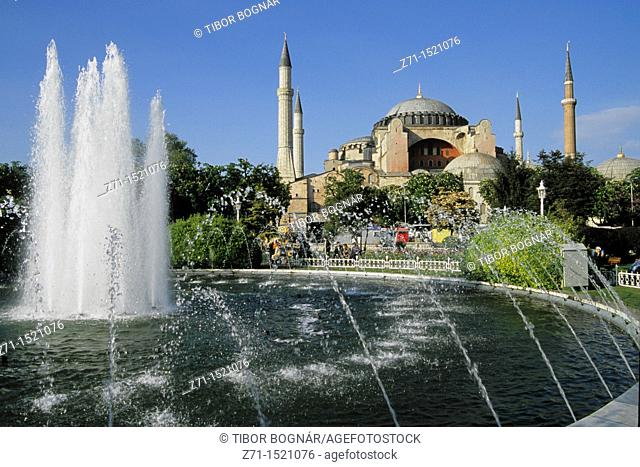 Hagia Sophia former mosque, Istanbul, Turkey