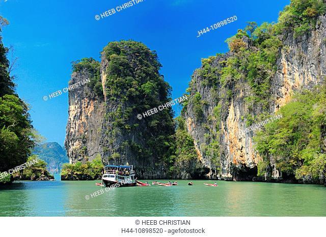 Phang Nga Bay, Marine, National Park, Phang Nga, Eco Tours, Thailand, Asia, boat