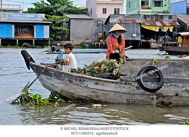 Vietnam, Can Tho province, Mekong Delta, Can Tho Floating Market