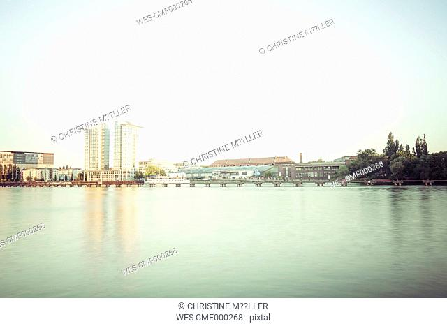 Germany, Berlin, Alt-Treptow, TwinTowers at Spree riverside