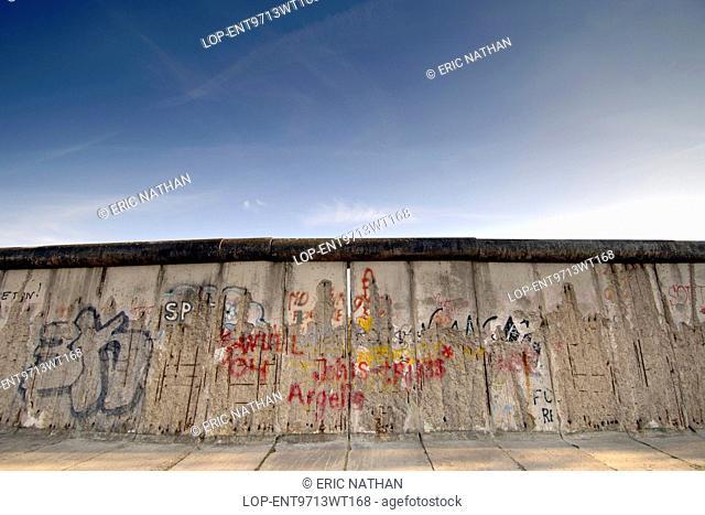 Germany, Berlin, East Side Gallery. The Berlin Wall along Bernauer Strasse in East Berlin