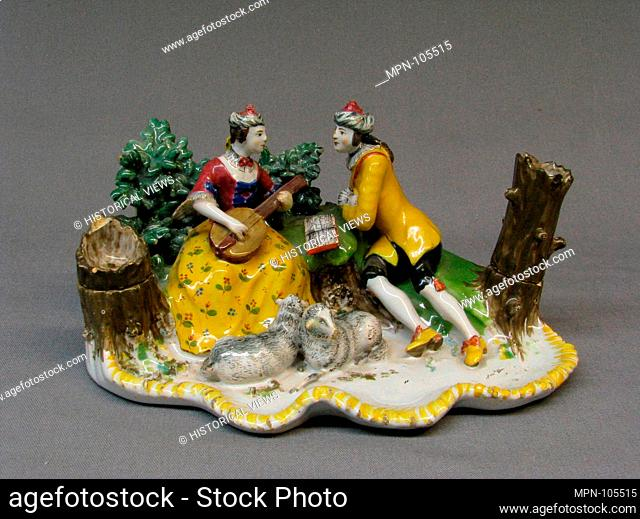 Condiment tray. Date: ca. 1750-60; Culture: Germany, Künersberg; Medium: Tin-glazed earthenware; Dimensions: Height: 7 3/4 in. (19