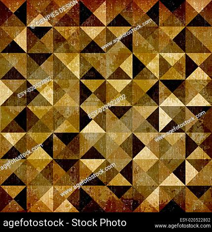 Abstract geometric vintage pattern