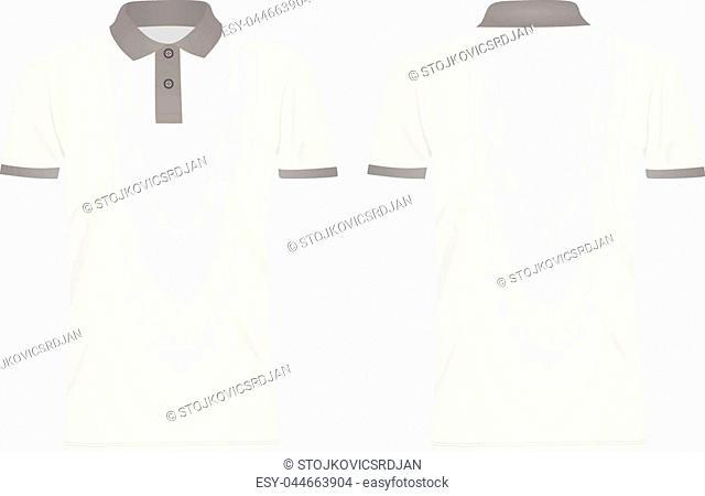 White polo t shirt. vector illustration