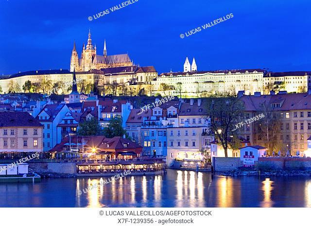 Vitus Cathedral, Prague Castle, Vltava River Prague  Czech Republic