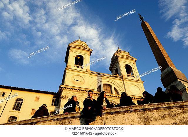 Trinità dei Monti, Piazza di Spagna, Rome, Italy