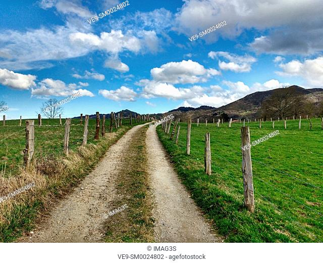 Rural landscape near Nava village, Asturias, Spain