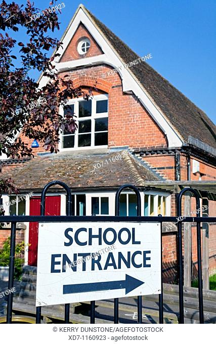 England Kent Rolvenden Village Primary School Entrance (sign detail)