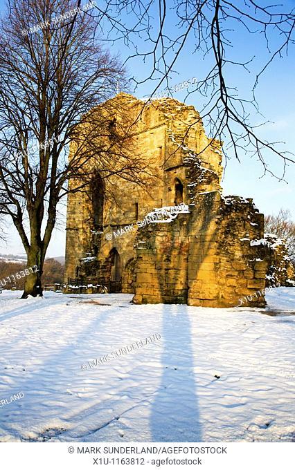 The Castle in Winter Knaresborough North Yorkshire England