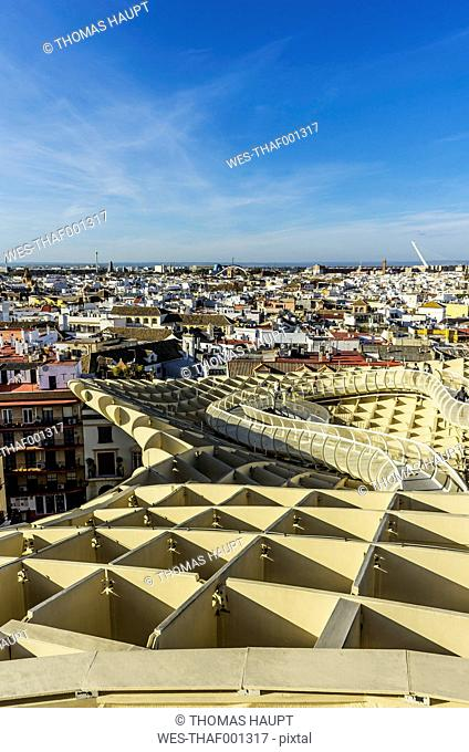 Spain, Andalusia, Sevilla, cityscape with Metropol Parasol